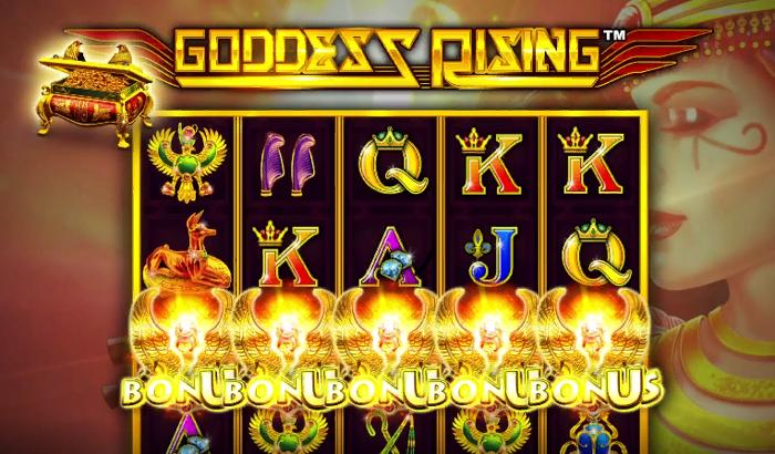 how to spin Goddess Rising Slot