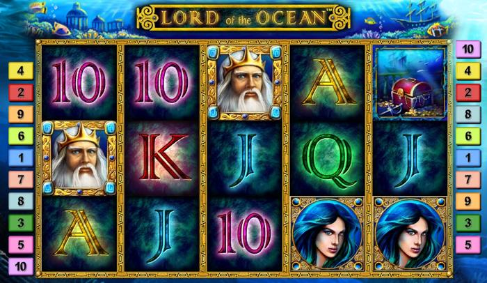 How to spin Lordof the Ocean Slot