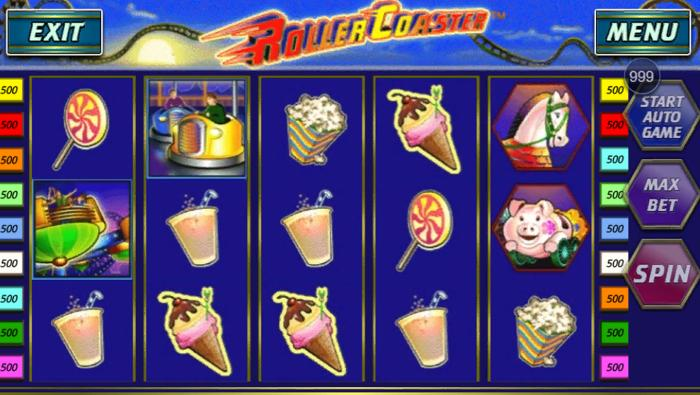 how to spin Roller Coaster slot